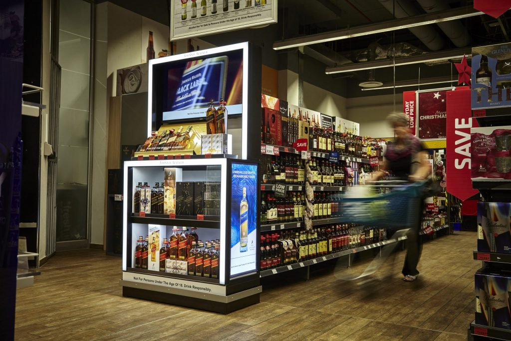 Diageo: New Generation Gondola Ends For Checkers